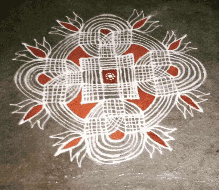 Admirable Padmini Ekadashi Rangoli Design