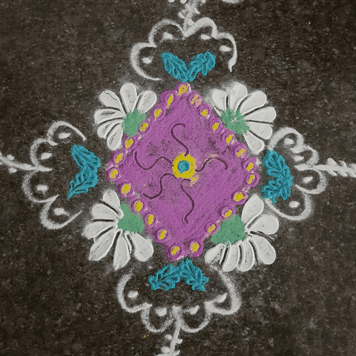 Adorable Padmini Ekadashi Rangoli