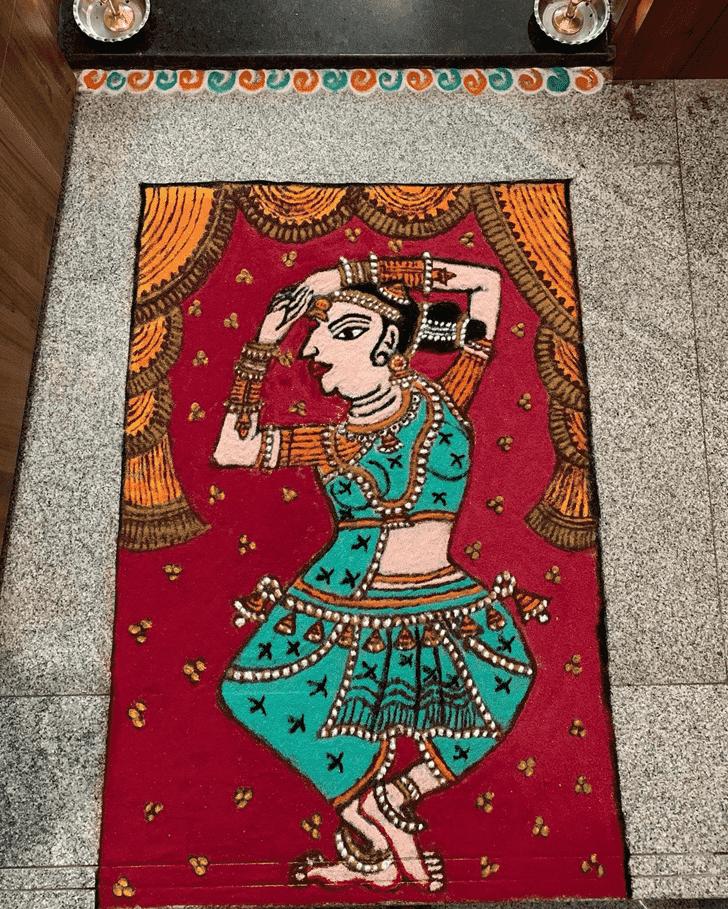 Bewitching Padmini Ekadashi Rangoli