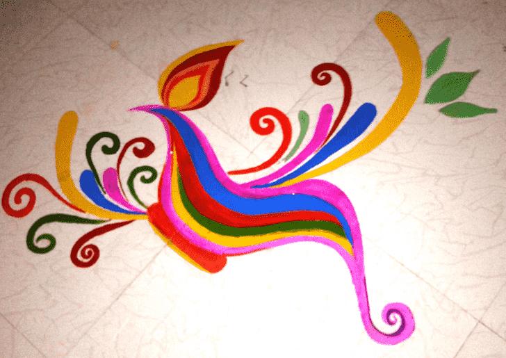 Beauteous Paint Rangoli