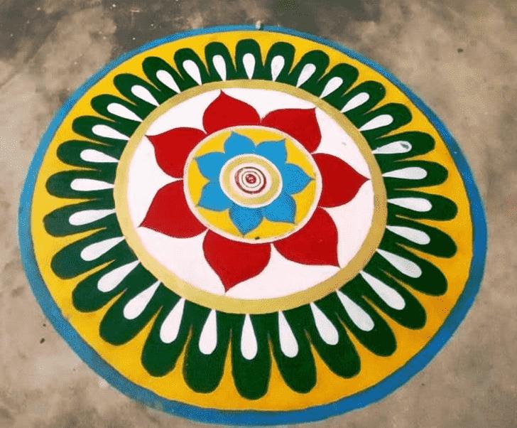 Charming Paint Rangoli