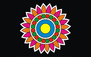 Paint Rangoli Design