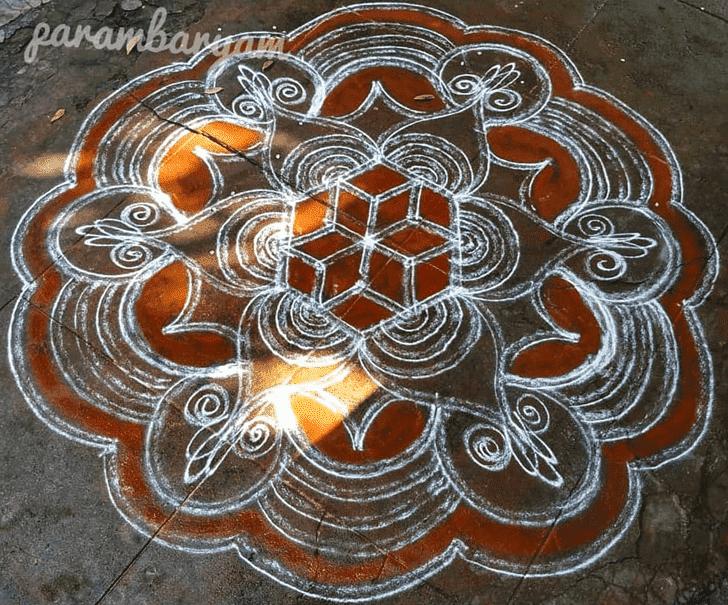 Alluring Parashurama Jayanti Rangoli