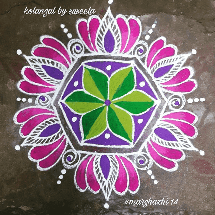 Captivating Phalguna Purnima Rangoli