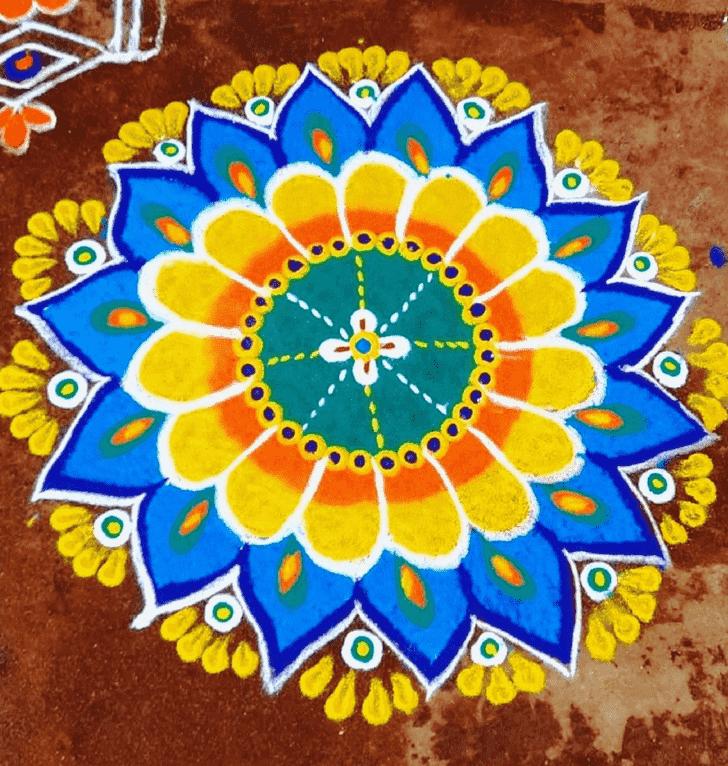Captivating Pongal Kolam Rangoli