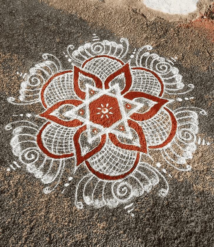Captivating Radha Ashtami Rangoli