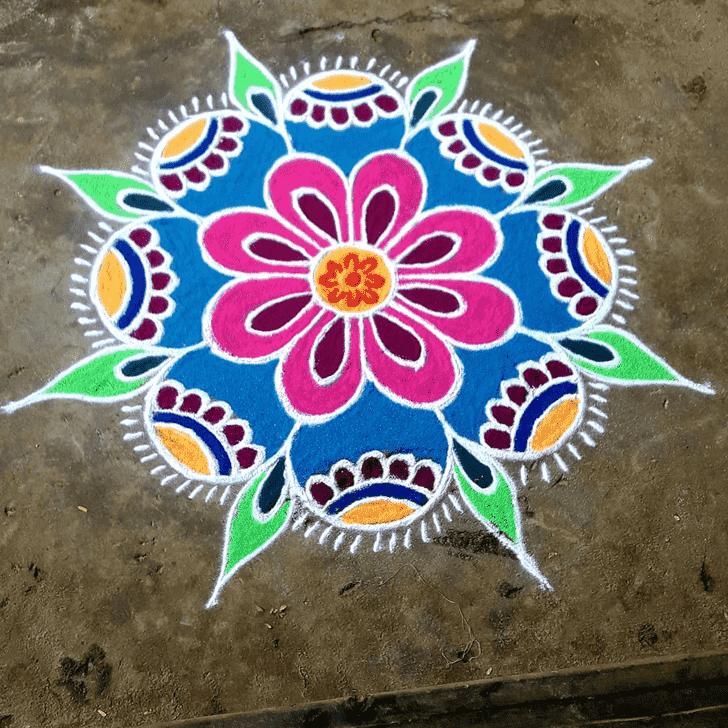 Amazing Rajasthani Rangoli