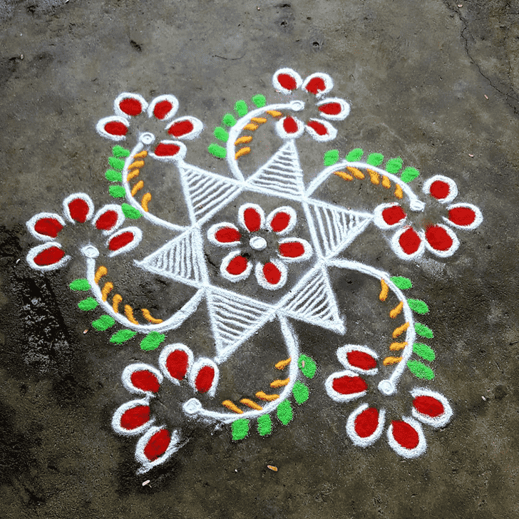 Alluring Rajasthani Rangoli