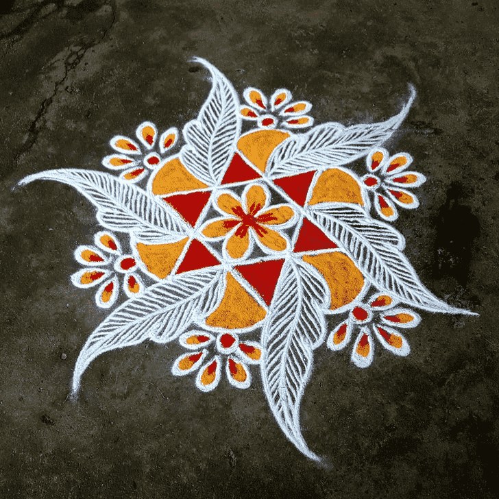 Appealing Rajasthani Rangoli