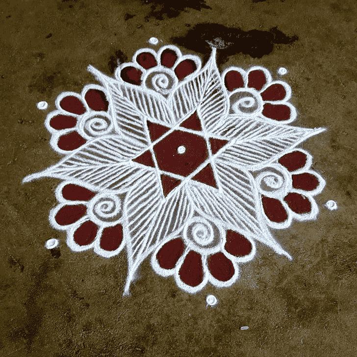 Bewitching Rajasthani Rangoli