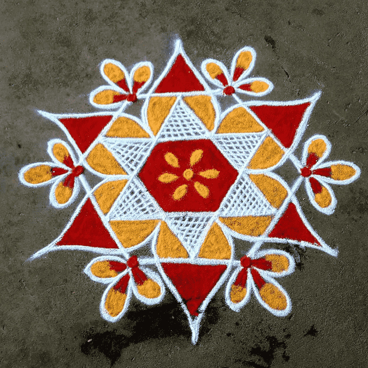 Classy Rajasthani Rangoli