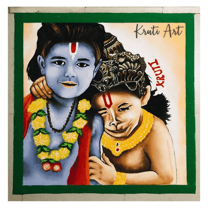 Beauteous Ram Navami Rangoli