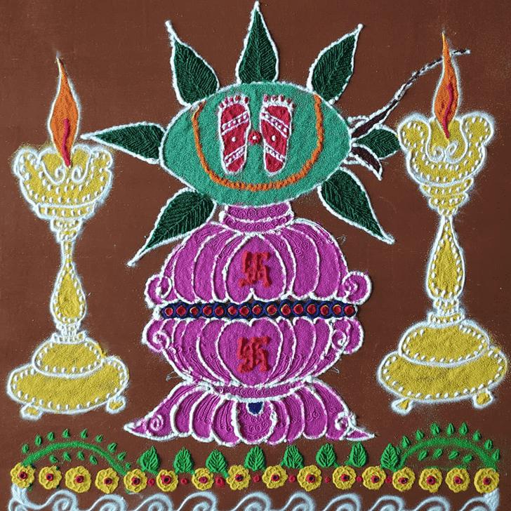 Enticing Ram Navami Rangoli