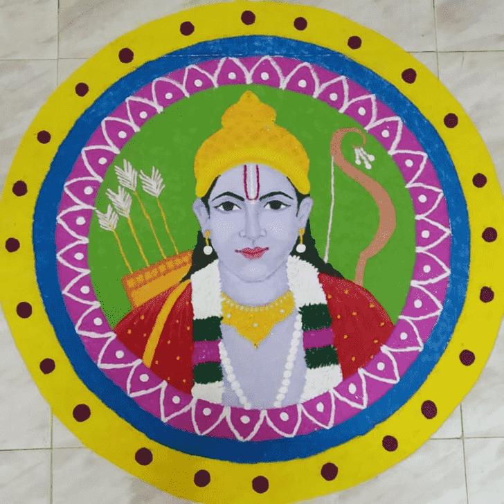 Exquisite Ram Navami Rangoli