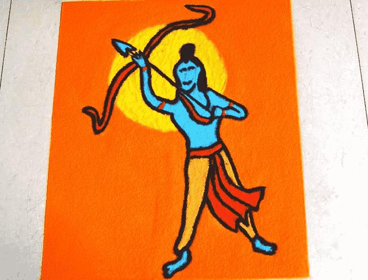 Fetching Ram Navami Rangoli