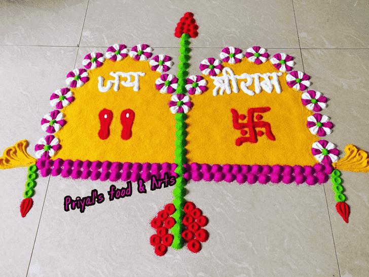 Gorgeous Ram Navami Rangoli