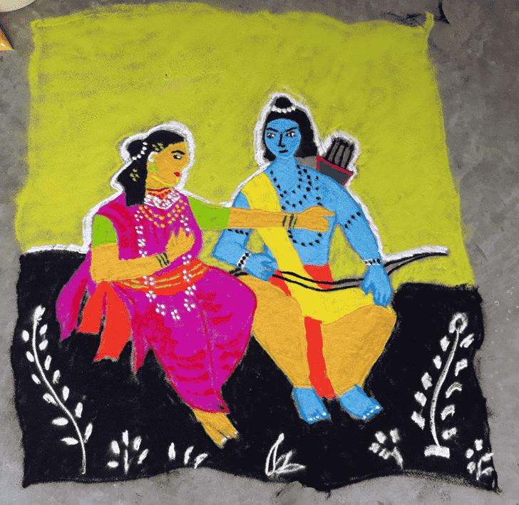 Grand Ram Navami Rangoli