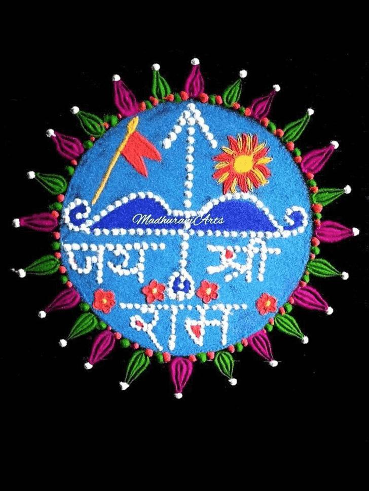 Nice Ram Navami Rangoli