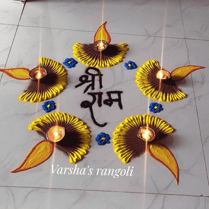 Pretty Ram Navami Rangoli
