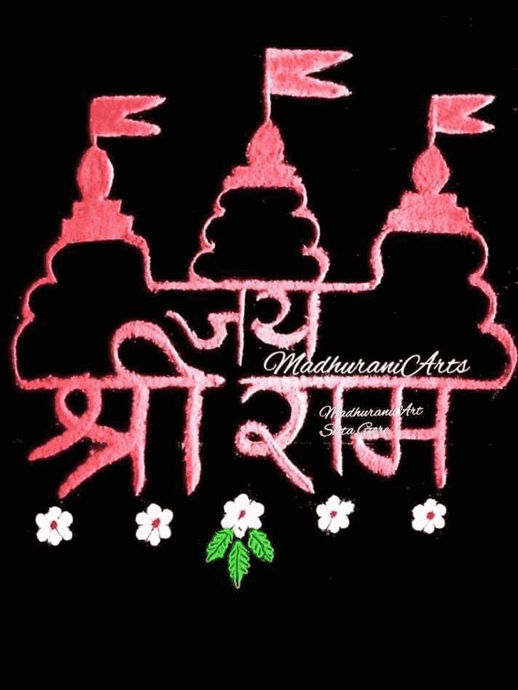 Radiant Ram Navami Rangoli
