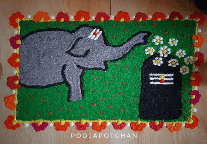 Alluring Rama Ekadashi Rangoli