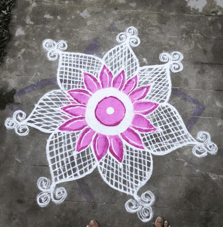 Angelic Rama Ekadashi Rangoli