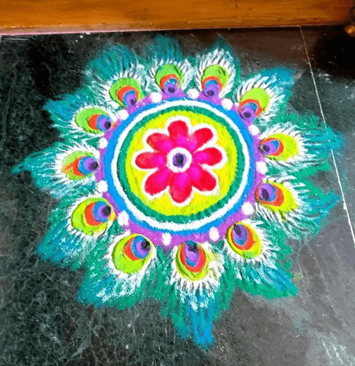 Beauteous Rama Ekadashi Rangoli