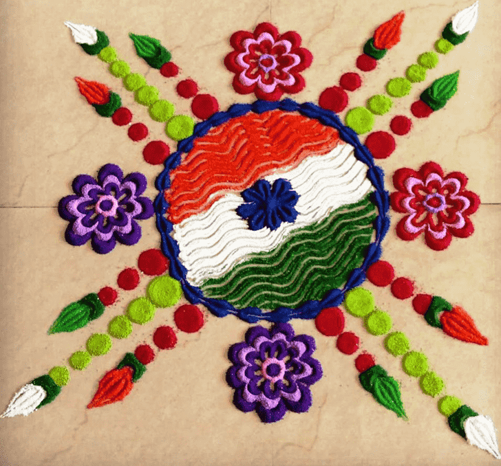 Angelic Republic Day Rangoli