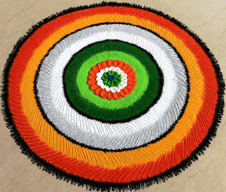 Appealing Republic Day Rangoli