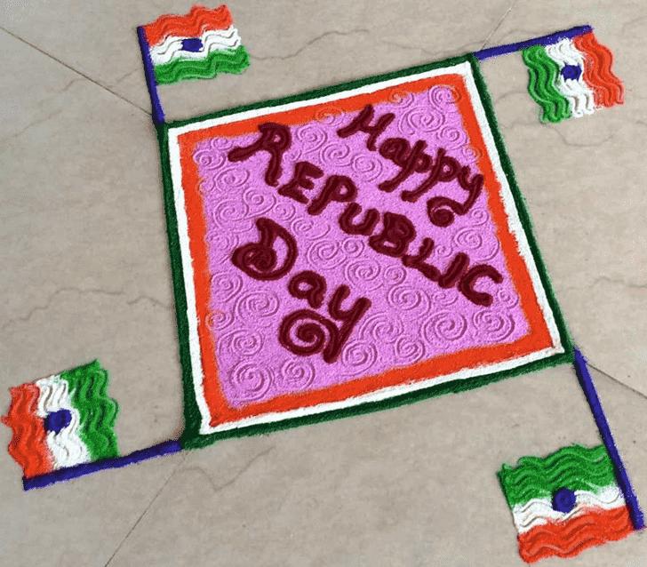 Beauteous Republic Day Rangoli