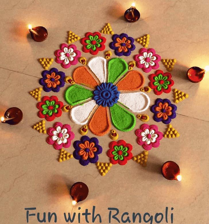 Bewitching Republic Day Rangoli
