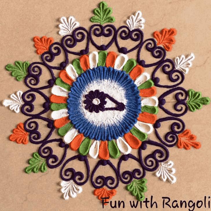 Captivating Republic Day Rangoli