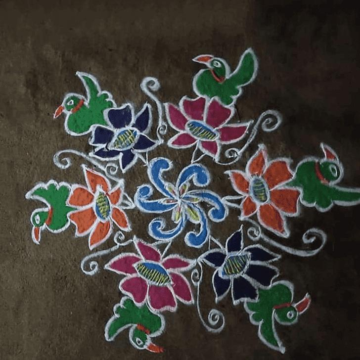 Captivating Sheetala Ashtami Rangoli