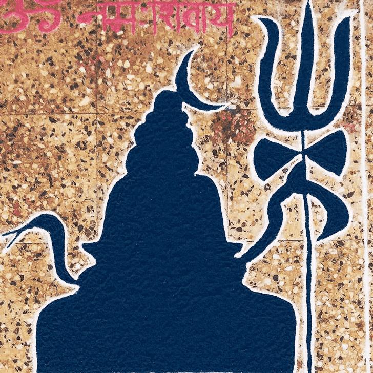 Alluring Shiva Rangoli