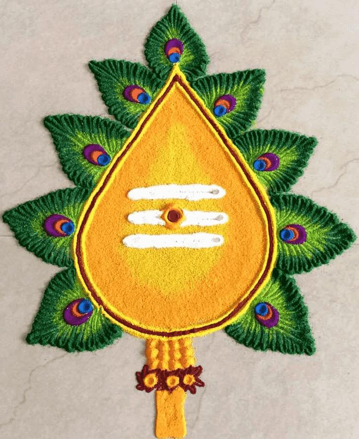 Appealing Shiva Rangoli