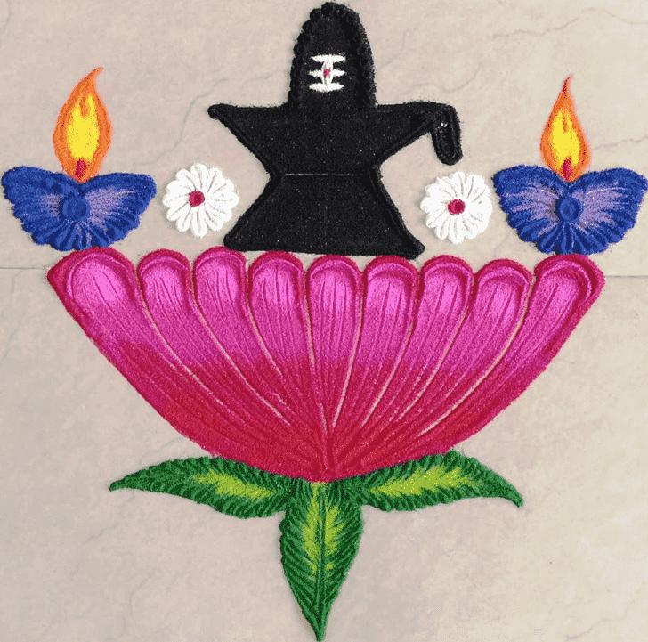 Beauteous Shiva Rangoli