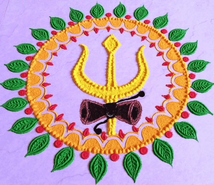 Bewitching Shiva Rangoli