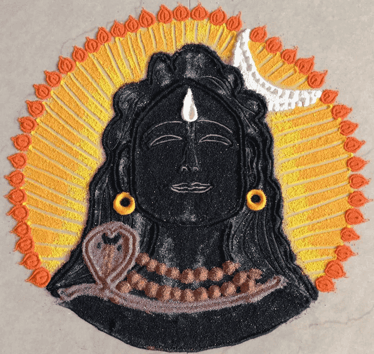 Captivating Shiva Rangoli