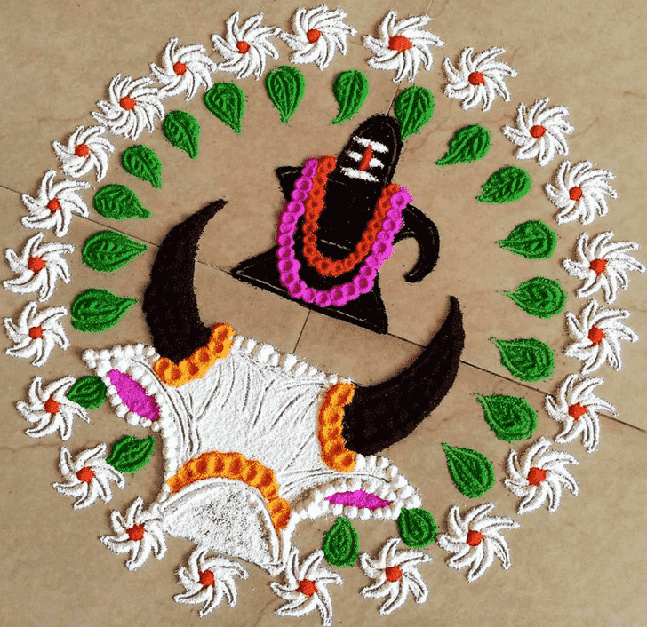 Charming Shiva Rangoli