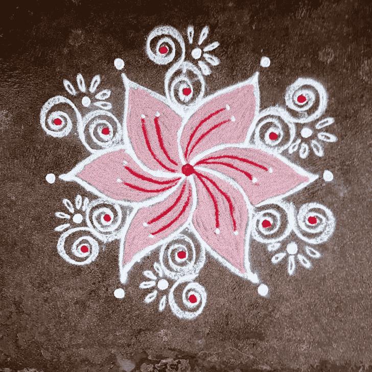 Alluring Shravana Amavasya Rangoli