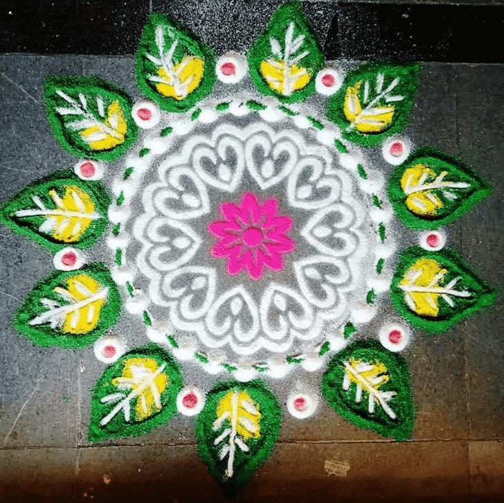 Admirable Simple Kolam Rangoli Design