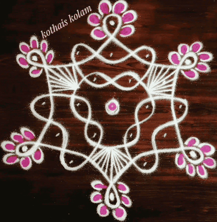 Appealing Simple Kolam Rangoli