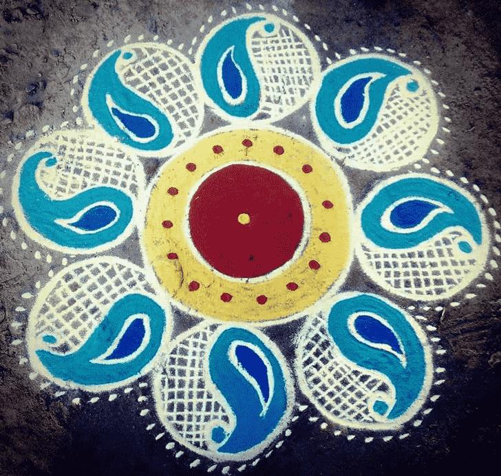 Beauteous Simple Kolam Rangoli