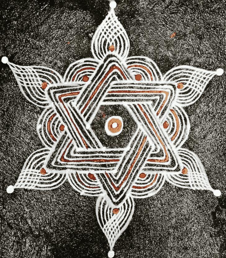 Charming Simple Kolam Rangoli