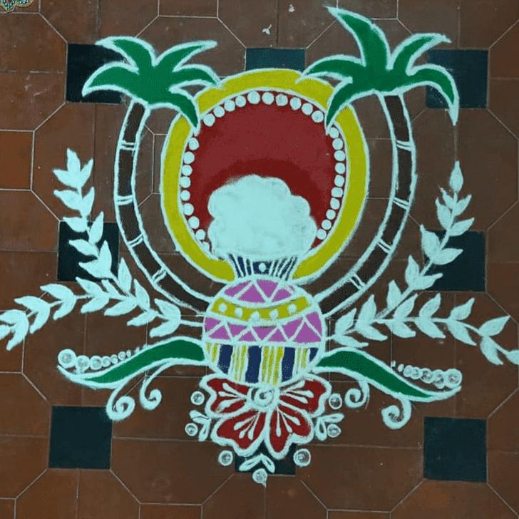 Admirable Sita Navami Rangoli Design