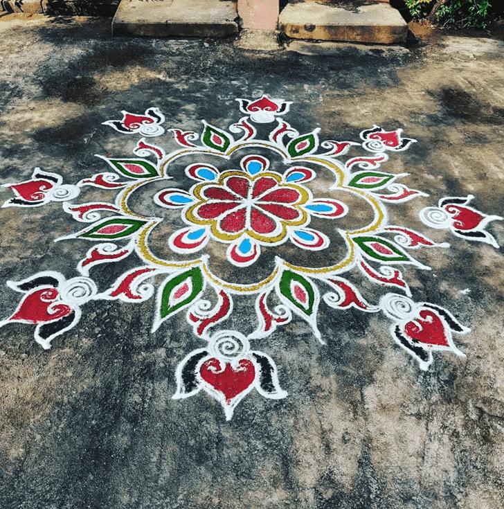 Alluring Sita Navami Rangoli