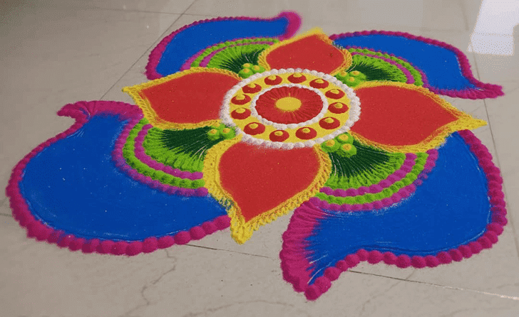 Appealing Sita Navami Rangoli