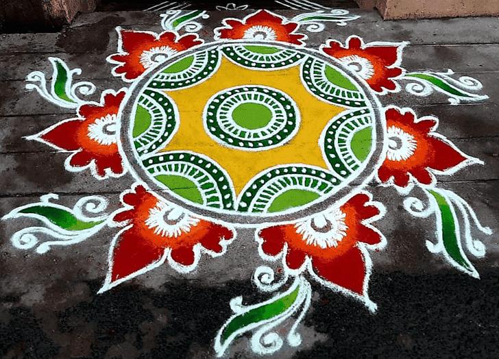 Bewitching Sita Navami Rangoli