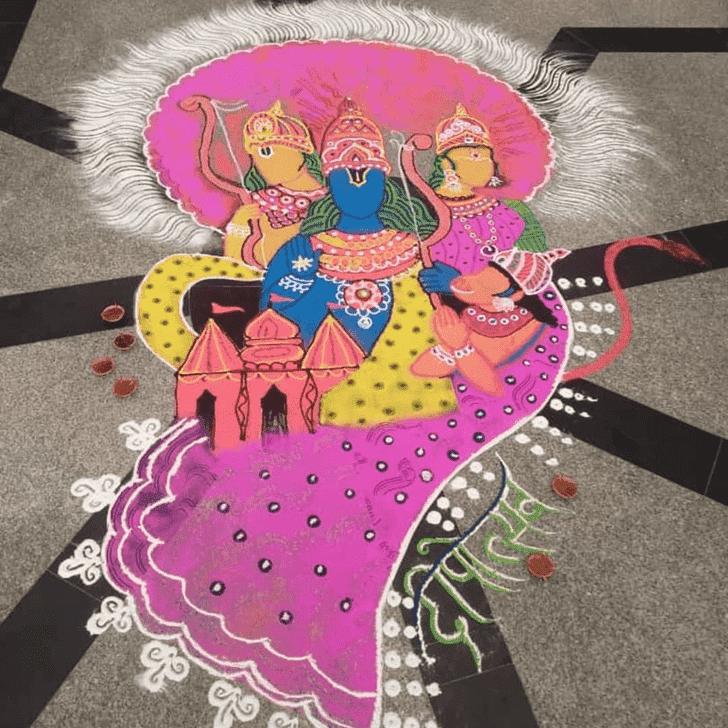 Classy Sita Navami Rangoli