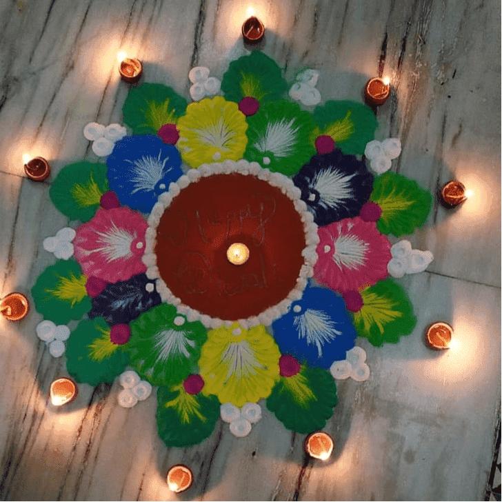 Admirable Somvati Amavasya Rangoli Design